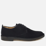 Clarks Originals Desert London Men's Shoes Black Suede photo- 0