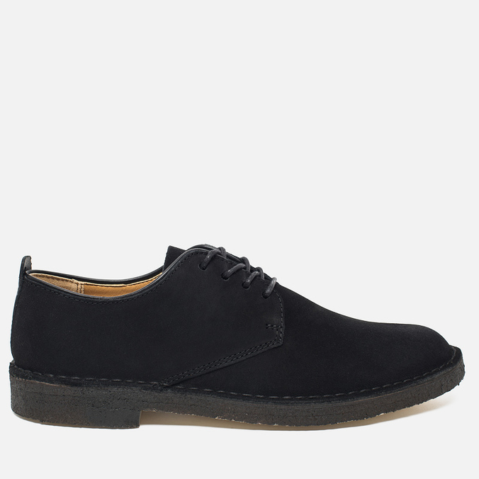 Clarks Originals Desert London Men's Shoes Black Suede