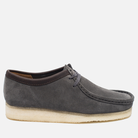 Clarks Originals Wallabee Suede Men's shoes Charcoal