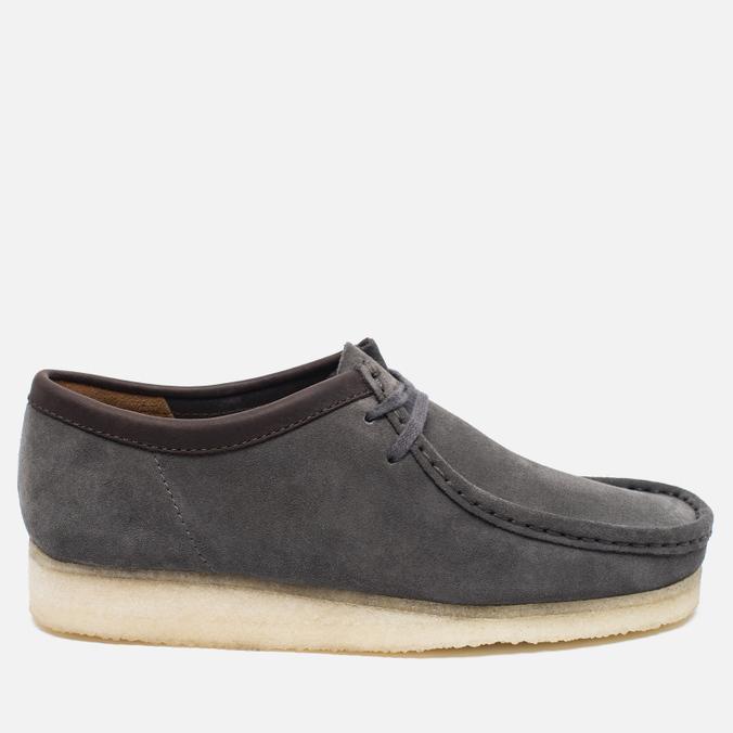 Clarks Originals Wallabee Suede Men's shoes Charcoal