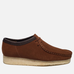 Мужские ботинки Clarks Originals Wallabee Suede Dark Tan фото- 0
