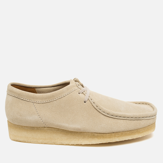 Мужские ботинки Clarks Originals Wallabee Suede Off White