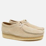 Мужские ботинки Clarks Originals Wallabee Suede Off White фото- 2