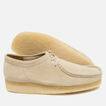 Мужские ботинки Clarks Originals Wallabee Suede Off White фото- 1