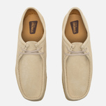 Мужские ботинки Clarks Originals Wallabee Suede Off White фото- 4