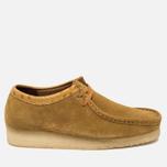 Мужские ботинки Clarks Originals x Stussy Wallabee Golden Brown фото- 0