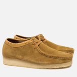 Мужские ботинки Clarks Originals x Stussy Wallabee Golden Brown фото- 1