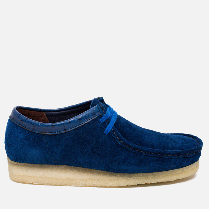 Мужские ботинки Clarks Originals x Stussy Wallabee Royal Blue