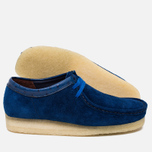 Мужские ботинки Clarks Originals x Stussy Wallabee Royal Blue фото- 2
