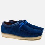 Мужские ботинки Clarks Originals x Stussy Wallabee Royal Blue фото- 1