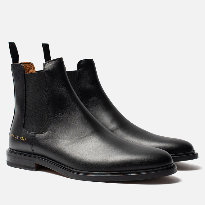 Мужские ботинки Common Projects Chelsea Leather Black