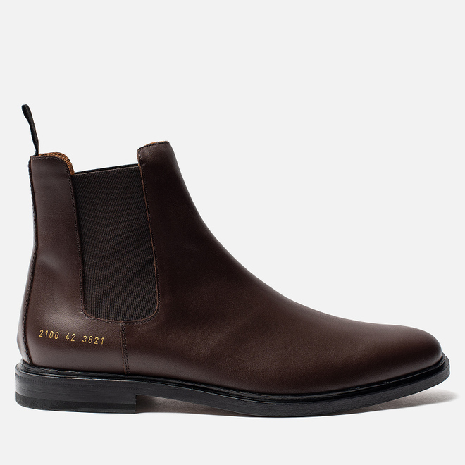 Мужские ботинки Common Projects Chelsea Leather Brown