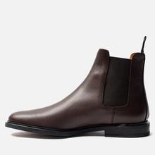 Мужские ботинки Common Projects Chelsea Leather Brown фото- 5