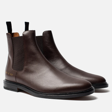 Мужские ботинки Common Projects Chelsea Leather Brown фото- 1