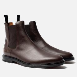 Мужские ботинки Common Projects Chelsea Leather Brown