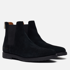 Мужские ботинки Common Projects Chelsea Suede Black