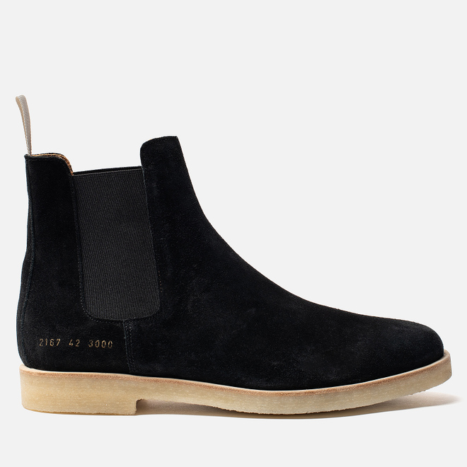 Мужские ботинки Common Projects Chelsea Suede Black/White Sole