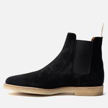 Мужские ботинки Common Projects Chelsea Suede Black/White Sole фото- 5