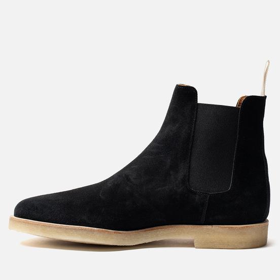 Мужские ботинки Common Projects Chelsea Suede Black/White Sole