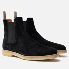 Мужские ботинки Common Projects Chelsea Suede Black/White Sole фото- 0