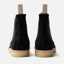 Мужские ботинки Common Projects Chelsea Suede Black/White Sole фото- 2