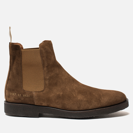 Мужские ботинки Common Projects Chelsea Suede Brown