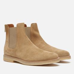 Мужские ботинки Common Projects Chelsea Suede Tan