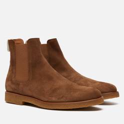 Мужские ботинки Common Projects Chelsea Suede Tobacco