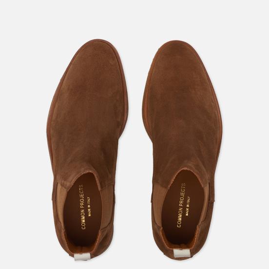 Мужские ботинки Common Projects Chelsea Suede Tobacco