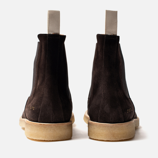 Мужские ботинки Common Projects Chelsea Suede Washed Brown
