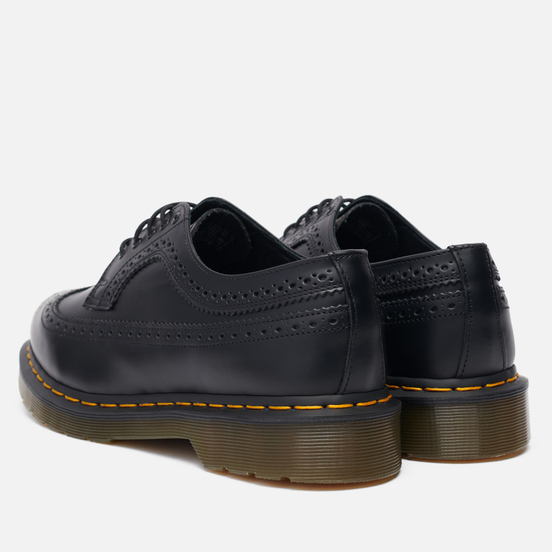 Мужские ботинки Dr. Martens 3989 Yellow Stitch Smooth Black