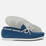 Мужские ботинки Fracap TU291 Leather Suede Light Blue/Sail White фото- 2