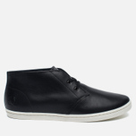 Мужские ботинки Fred Perry Byron Mid Leather Black/White фото- 0