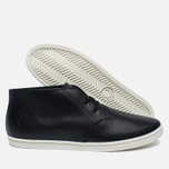 Мужские ботинки Fred Perry Byron Mid Leather Black/White фото- 2