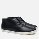 Мужские ботинки Fred Perry Byron Mid Leather Black/White фото- 1