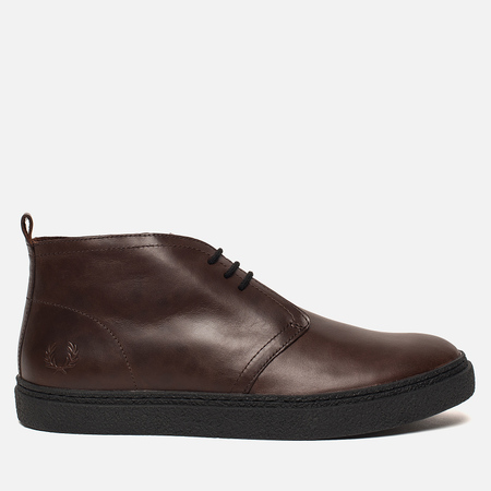 Мужские ботинки Fred Perry Hawley Mid Leather Dark Chocolate