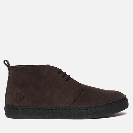 Мужские ботинки Fred Perry Hawley Mid Suede Dark Chocolate
