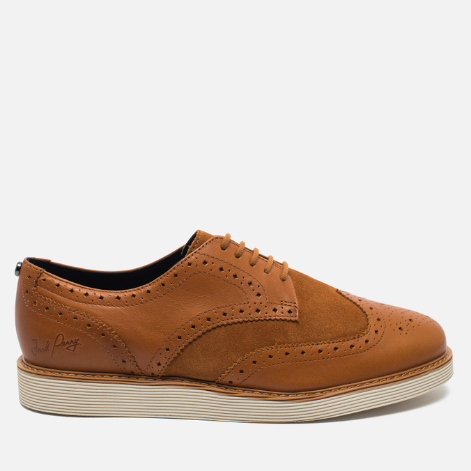 Мужские ботинки Fred Perry Newburgh Brogue Leather/Suede Light Tan