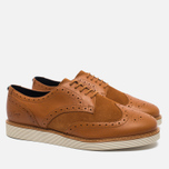 Мужские ботинки Fred Perry Newburgh Brogue Leather/Suede Light Tan фото- 1