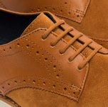 Мужские ботинки Fred Perry Newburgh Brogue Leather/Suede Light Tan фото- 5