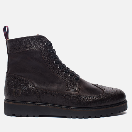 Мужские ботинки Fred Perry Northgate Scotchgrain Leather Dark Chocolate