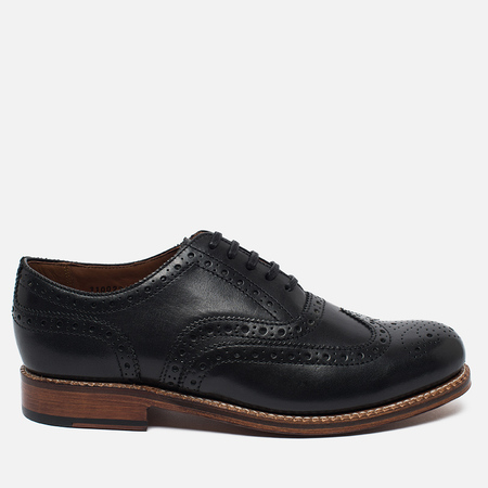 Grenson Angus Brogue Men's Shoes Black