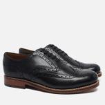 Мужские ботинки Grenson Angus Brogue Black фото- 1