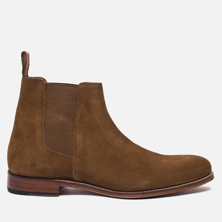 Мужские ботинки Grenson Declan Classic Chelsea Suede Snuff
