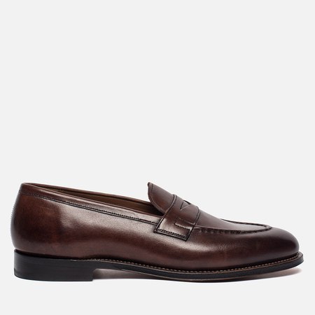 Мужские ботинки Grenson Lloyd Hand Painted Calf Leather Dark Brown