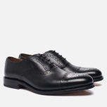 Мужские ботинки броги Grenson Matthew Brogue Sole Leather Black фото- 1