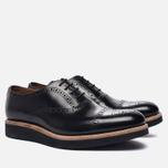 Мужские ботинки броги Grenson Matthew Brogue Sole Wedge Black фото- 1