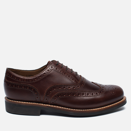 Grenson Stanley Brogue Men's Shoes Chestnut