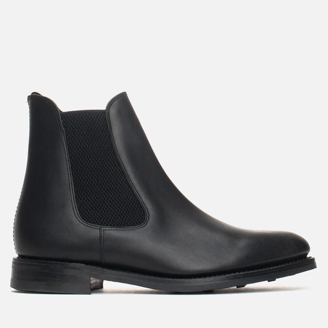 Мужские ботинки Loake Blenheim Chelsea Black Waxy
