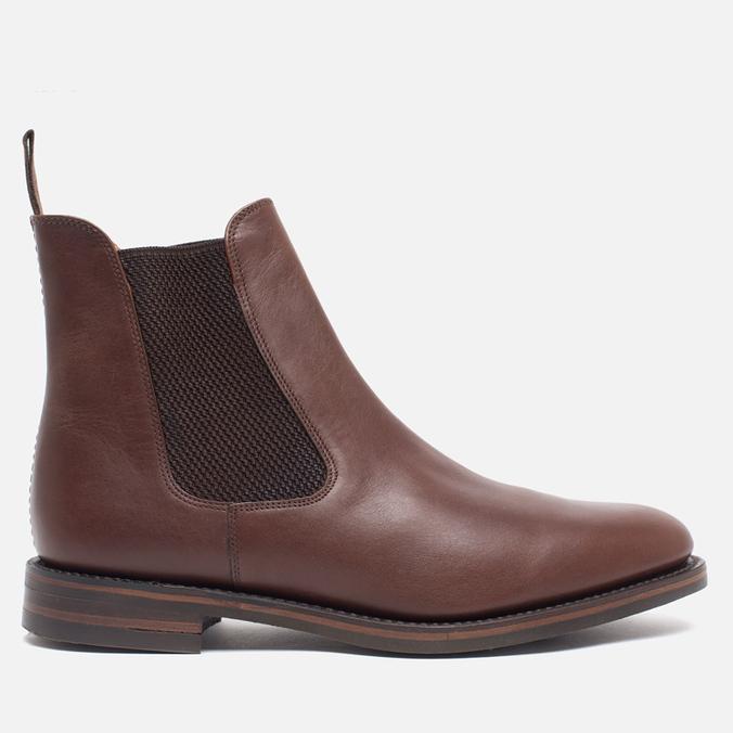 Мужские ботинки Loake Blenheim Chelsea Brown Waxy